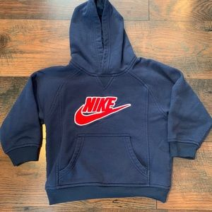 Nike Size 4 Hoodie Navy Blue and Red